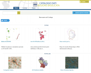 RSDI Basilicata - Catalogo Dati