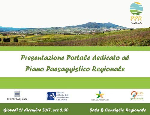 Presentazione del Portale dedicato al Piano Paesaggistico Regionale.