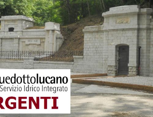 La RSDI ospita i dati geografici di Acquedotto Lucano: SORGENTI [layer 2/7]