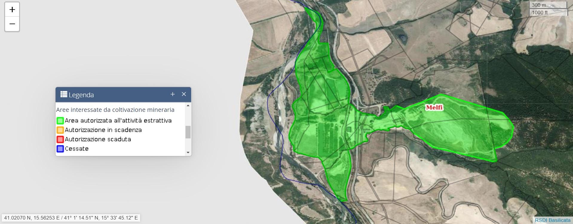 SIT CAVE – Aree interessate da coltivazione mineraria